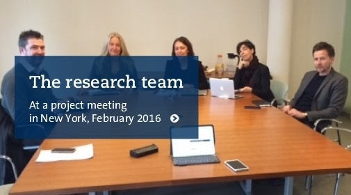 The research team at a meeting in New York, February 2016