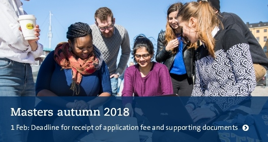 Masters autumn 2018: Deadline for receipt of supporting documentation