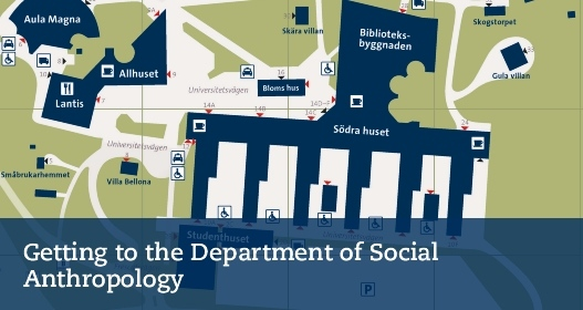 Getting to the Department of Social Anthropology