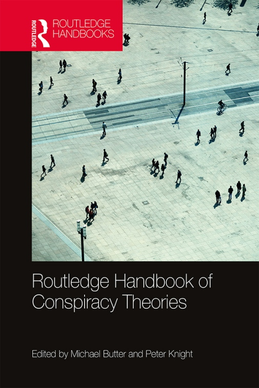 Bild på omslaget till boken Routledge Handbook of Conspiracy Theories